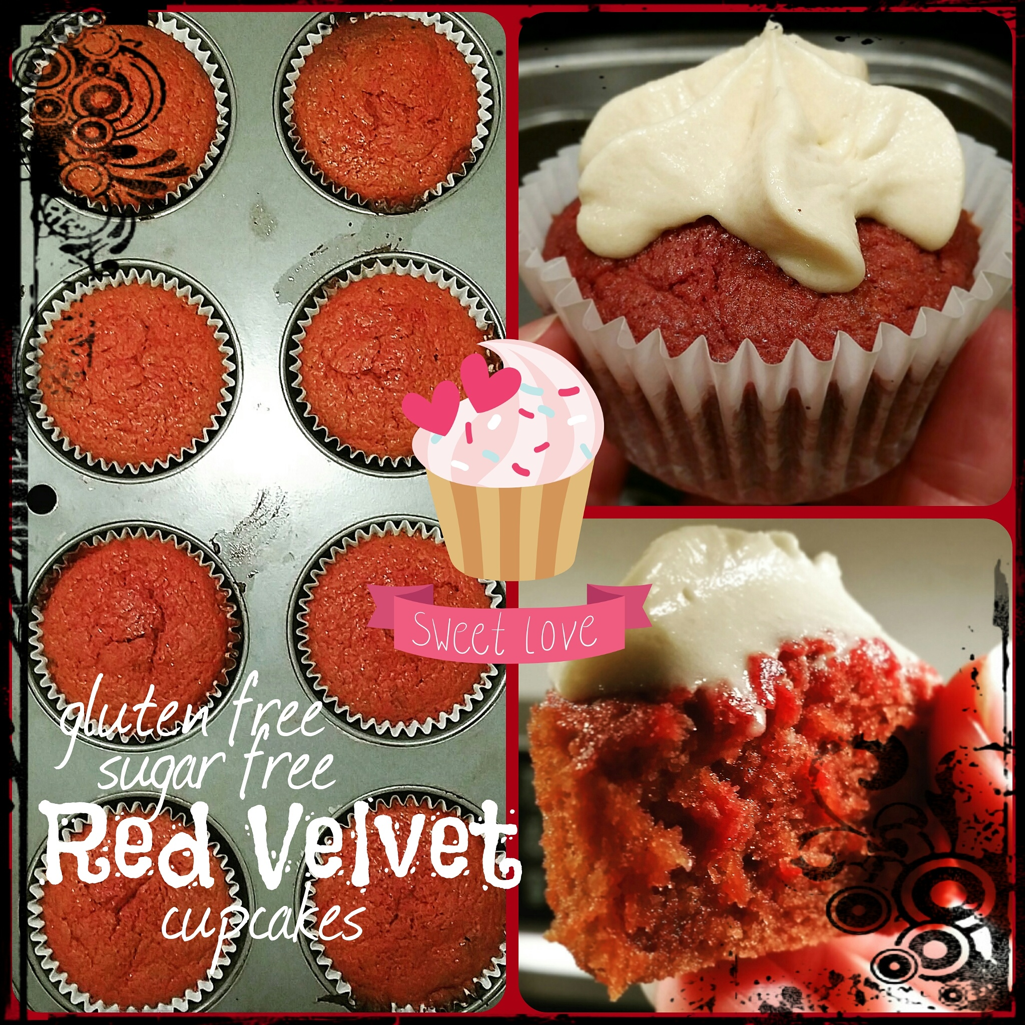 red velver collage