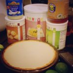 Filled key lime pie